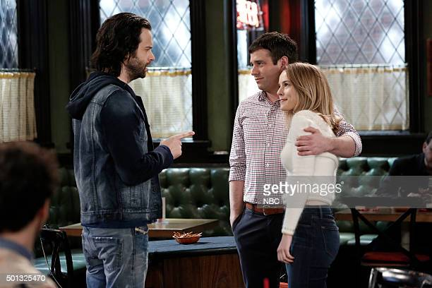 UNDATEABLE A Box Of Puppies Walks Into a Bar Episode 309A Pictured Chris D'Elia Brent Morin as Justin Bridgit Mendler as Candace