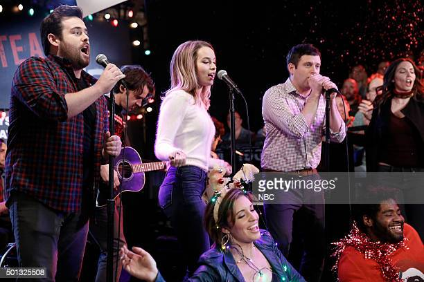 UNDATEABLE A Box Of Puppies Walks Into a Bar Episode 309A Pictured David Fynn as Brett Bridgit Mendler as Candace Bianca Kajlich as Leslie Brent...
