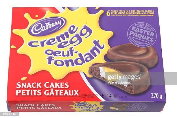 Box of Six Cadbury Cream Egg Snack Cakes