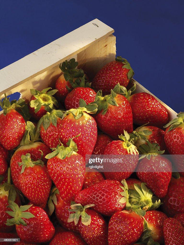 Caixa de morangos : Foto de stock