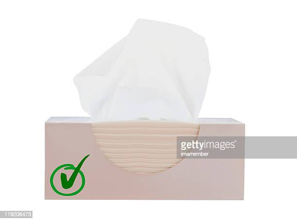 Box of tissues isolated on white background