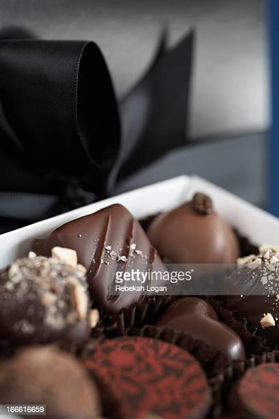Box of various chocolates