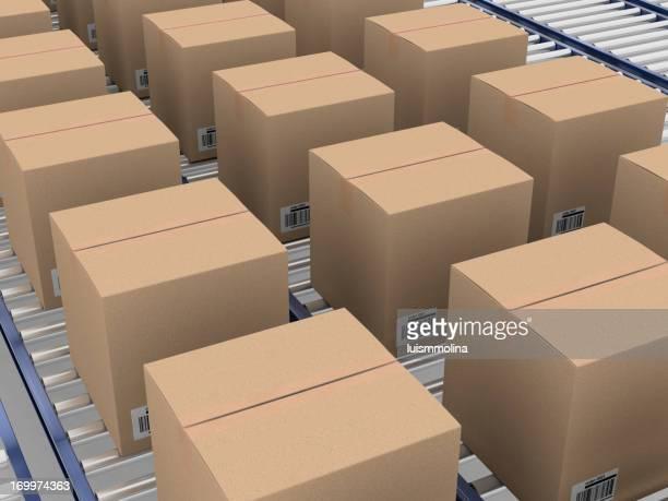 Box on a Conveyer Belt
