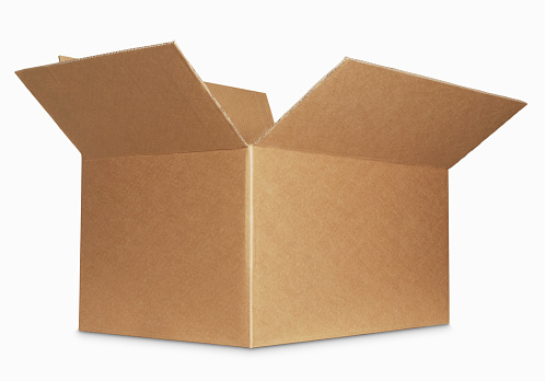 box open isolated over a white background 160948900