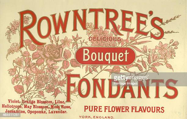 Box top for Rowntree's Bouquet Fondants 1910s