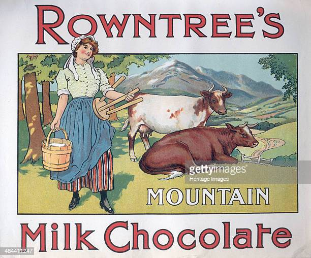 Box top for Rowntree's Mountain Milk Chocolate 1910s