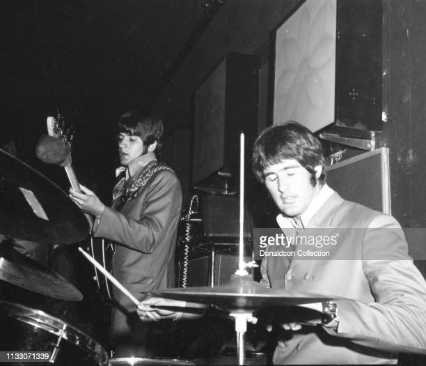 Box Tops members drummer Thomas Boggs, bassist Rick Allen perform onstage at the Arthur Club at a press party hosted by Bell Records in 1968 in New...