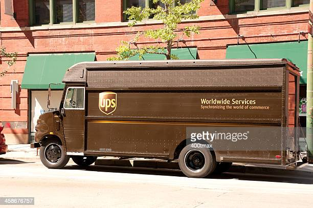 UPS box truck