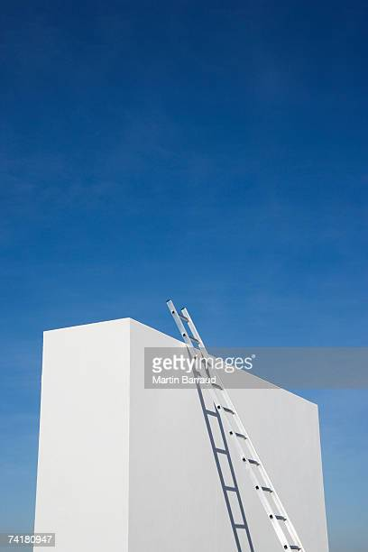 Box with ladder and blue sky