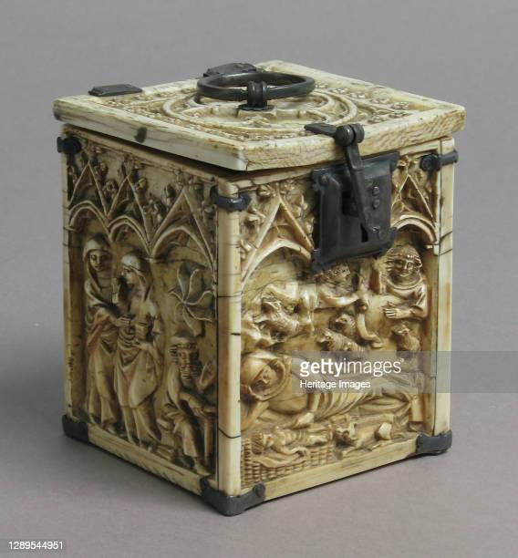 Box with Scenes from the Infancy of Christ, French, 14th century. Artist Unknown.