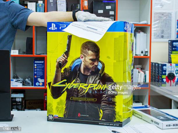 Box with the Sony PlayStation 4 Cyberpunk 2077 Collector's Edition on the counter. The first week of sales revealed problems with the game for owners...