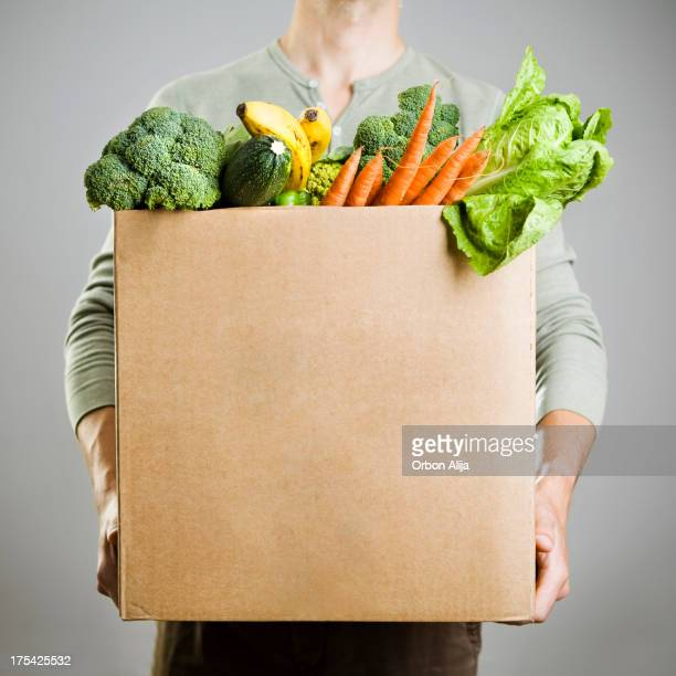 Box with vegetables