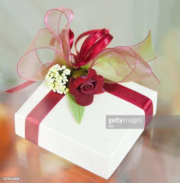 Box with wedding decoration