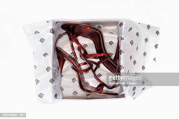 Box with woman's shoes