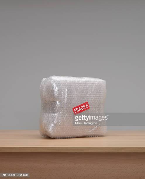 Box wrapped in bubble wrap