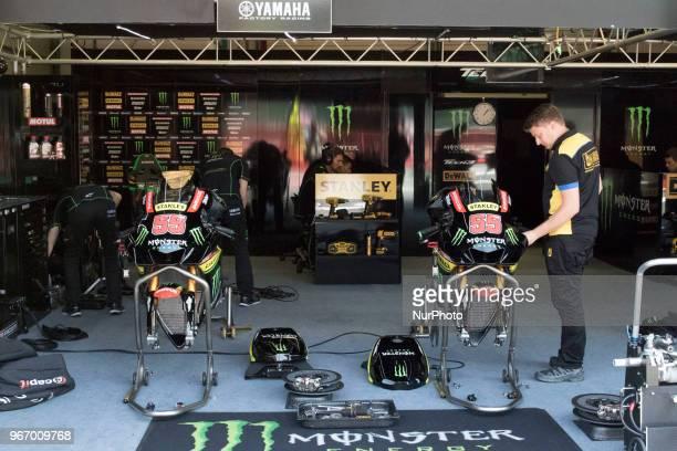 Box Yamaha no official during Race MotoGP at the Mugello International Cuircuit for the sixth round of MotoGP World Championship Gran Premio d'Italia...