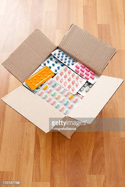 boxed blister packs - blister package stock pictures, royalty-free photos & images