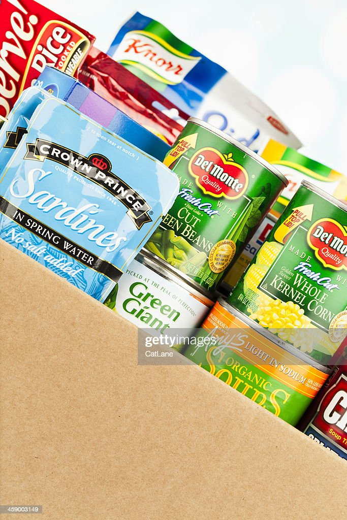 Boxed Groceries For Food Drive : Stock Photo
