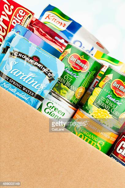 Boxed Groceries For Food Drive