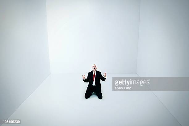 boxed in a white room - distressed stock market people stock pictures, royalty-free photos & images