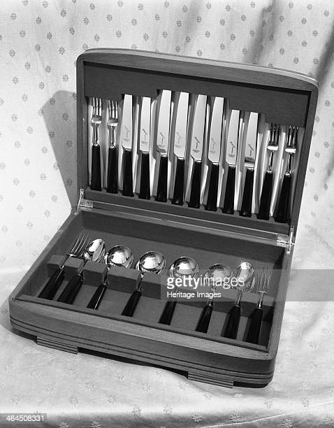 A boxed range of cutlery from Champion Scissors who produced the products from their factory in Mexborough South Yorkshire 14 Dec 1962