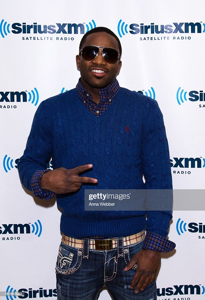 Boxer Adrien Broner visits SiriusXM Studios on February 12, 2013 in New York City.