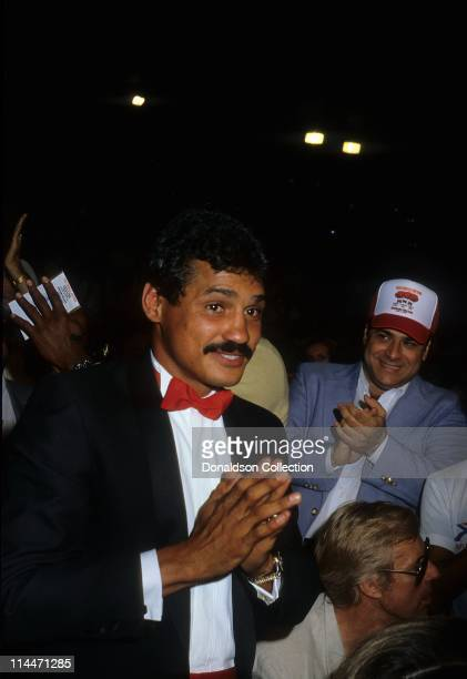 Boxer Alexis Arguello at boxing match on March 10 1986 in Caesars Palace Las Vegas Nevada