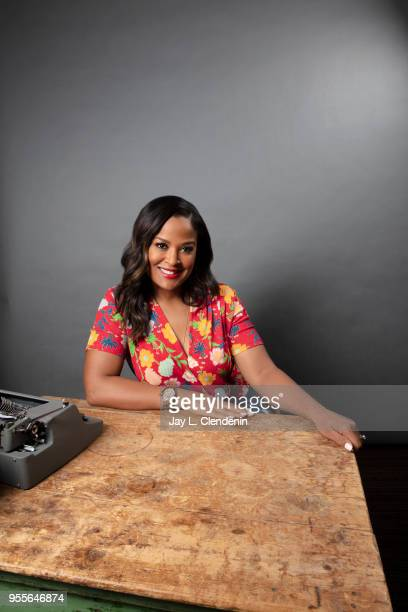 Boxer and author Laila Ali is photographed for Los Angeles Times on April 21 2018 in the LA Times Studio at the Los Angeles Times Festival of Books...