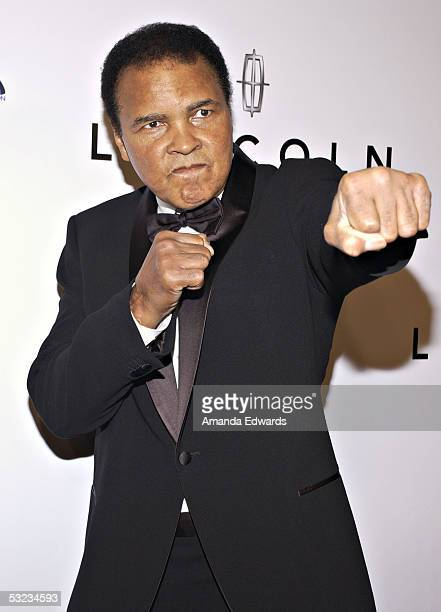 Boxer and honoree Muhammad Ali arrives at the 20th Annual 'Midsummer Night's Magic Awards Dinner' on July 13 2005 at the Century Plaza Hotel in Los...