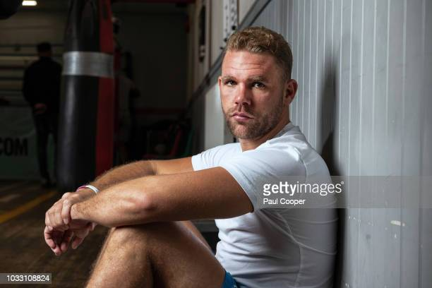 Boxer and WBO middleweight champion Billy Joe Saunders is photographed for the Telegraph on August 8 2018 in Manchester England