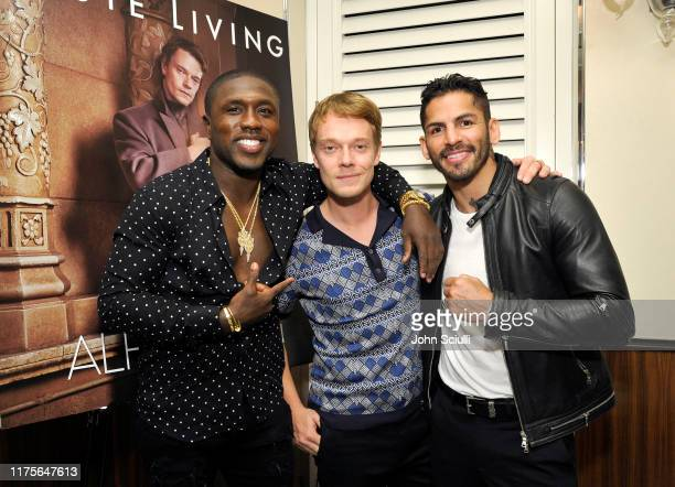 Boxer Andre Berto Actor Alfie Allen and Boxer Jorge Linares attend Haute Living honoring Alfie Allen with Louis XIII powered by XO on September 18...