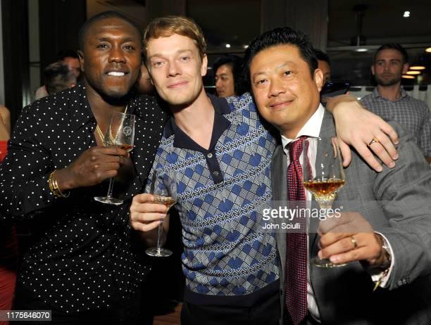 Boxer Andre Berto Actor Alfie Allen and Wayne Chang attend Haute Living honoring Alfie Allen with Louis XIII powered by XO on September 18 2019 in...