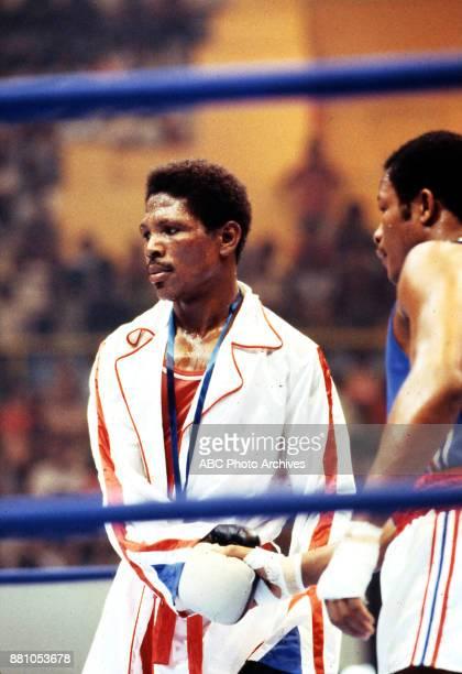 Boxer Angel Herrera at Olympic Stadium August 1983 Pan American Games