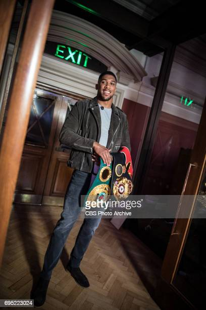 Boxer Anthony Joshua backstage on The Late Late Show with James Corden airing Wednesday June 7th 2017 from London On The CBS Television Network