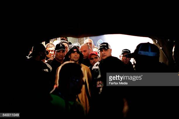 Boxer Anthony Mundine waits in tunnel at Aussie Stadium before his Super Middleweight title fight against Danny Green 20 May 2006 SHD Picture by...