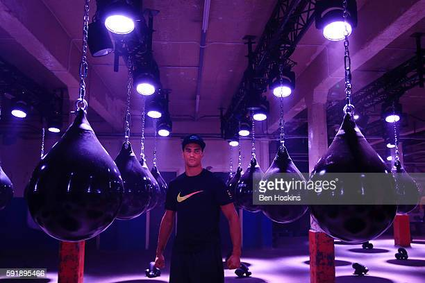 Boxer Anthony Ogogo trains harder than ever before at the launch of Nike Unlimited You An immersive training event like no other at 89 Brick Lane on...