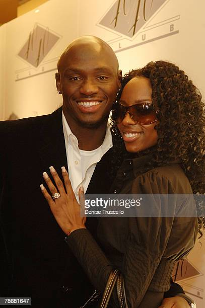 Boxer Antonio Tarver and his wife Denise arrive at the grand opening of JayZ's 40/40 Club Vegas on December 30 2007 in Las Vegas Nevada