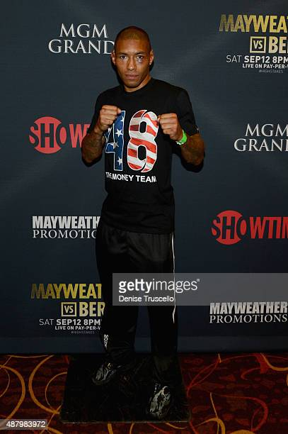 Boxer Ashley Theophane attends the VIP Pre-Fight Party for 'High Stakes: Mayweather v. Berto' presented by Showtime at MGM Grand Garden Arena on...
