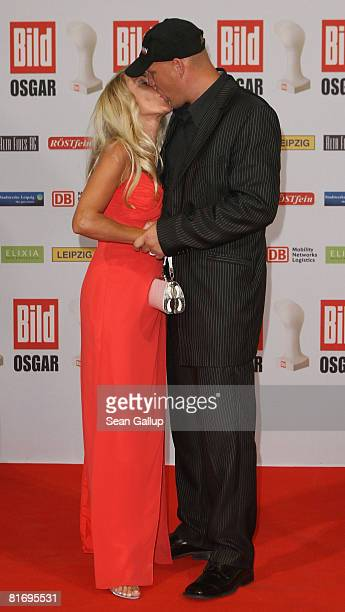 Boxer Axel Schulz and Patricia Reich attend the Bild OSGAR Award at City Hall on June 24 2008 in Leipzig Germany