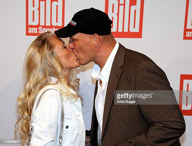 Boxer Axel Schulz and Patricia Reich attend the Bild Summer Party on June 26 2008 in Berlin Germany