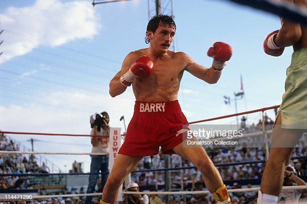 Boxer Barry McGuigan on June 23 1986 in Las Vegas Nevada