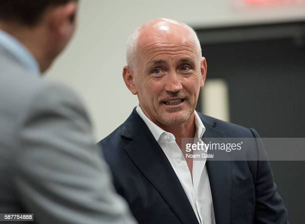 Boxer Barry McGuigan speaks onstage during Beyond Sport United 2016 at Barclays Center on August 9 2016 in Brooklyn New York