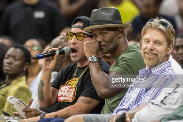 Boxer Bernard Hopkins during a BIG3 Basketball league game on July 16 2017 at Wells Fargo Center in Philadelphia PA