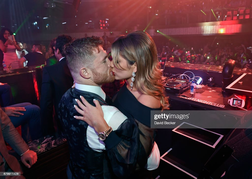 Canelo Alvarez Celebrates At JEWEL Nightclub Inside ARIA For Official After-Fight Party : News Photo