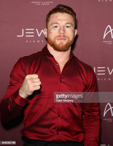 Boxer Canelo Alvarez hosts an official afterparty at Jewel Nightclub at the Aria Resort Casino on September 16 2017 in Las Vegas Nevada