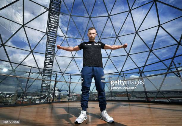 Boxer Carl Frampton poses for a portrait at Victoria Square on April 19 2018 in Belfast Northern Ireland Frampton was taking part in an open workout...