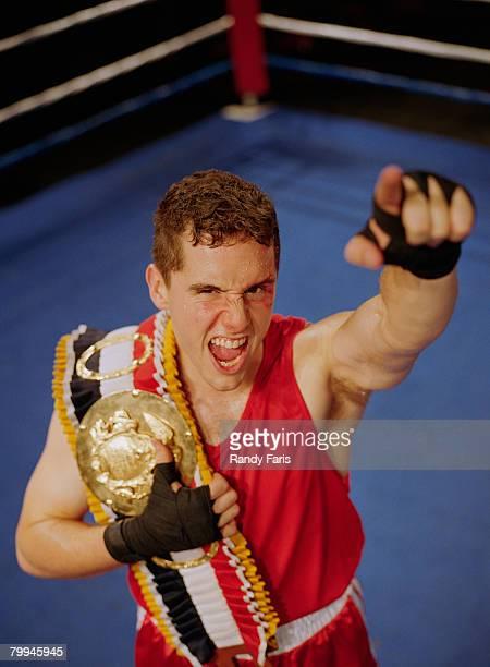 Boxer Celebrating Win
