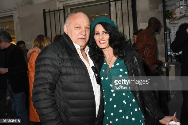 Boxer champion Franck Tiozzo and Sylvie Ortegas Munos attend Kids Of The World Richard Aujard Exhibition Preview At Artcube Galerie on May 3 2018 in...
