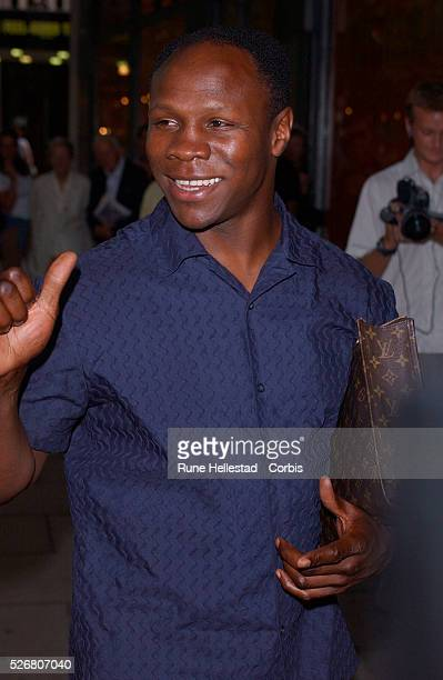 Boxer Chris Eubank attends Esquire magazine's 50 Sharpest Men in Britain 2002 awards at the Bank Aldwych Bar Restaurant in London