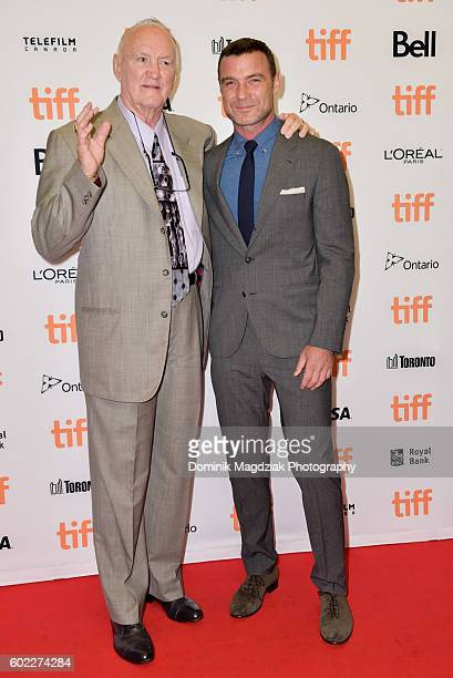 Boxer Chuck Wepner and actor Liev Schreiber attend 'The Bleeder' premiere during the 2016 Toronto International Film Festival at the Princess of...